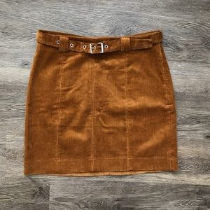 NWT Urban Outfitters Tan Corduroy Skirt